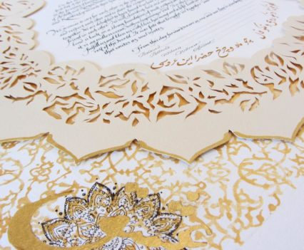 Cut Paper and Gold Leaf